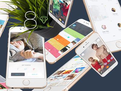 8 for Sketch 3 - Mobile UI Kit Part 7