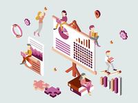 Business Plan Isometric Illustration