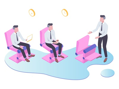 Smart Chair for Smart Room Isometric Illustration