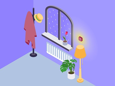 Smart Hub Device for Smarthome Isometric Illustration