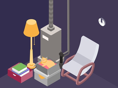 Smart Living Room Isometric Illustration