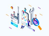 Social Marketing Isometric