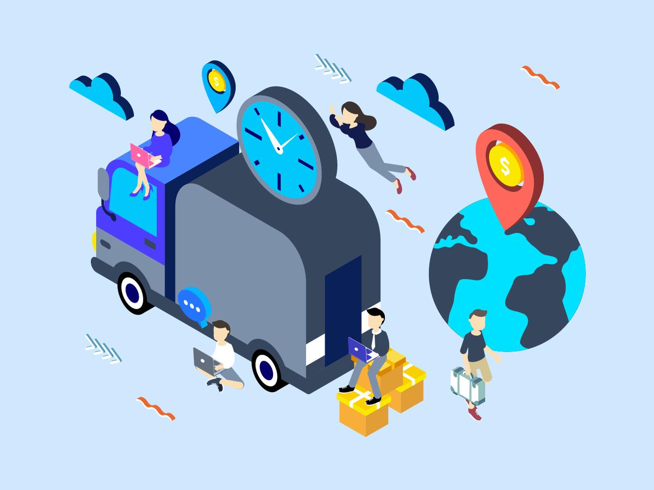 Social Marketing Isometric network css social isometric illustration 3d