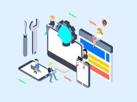 Social Marketing Isometric