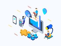 Social Media Isometric