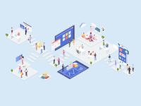 Startup Concept Isometric