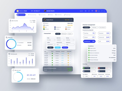 Walance Bank Dashboard UI