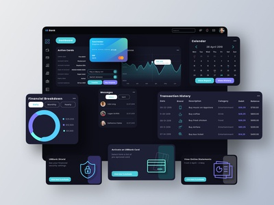 UB Bank Dashboard UI