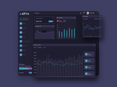 AdFin Finance Dashboard Ui Dark