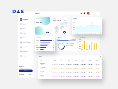 DAS Finance Dashboard Ui Light & Dark blockchain cryptocurrency analytic logistic admin profile calendar chart debuctions document project interface profit tax report balance dashboard finance ux ui