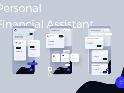 Personal Financial Assistant Light Mobile Ui Kit personal financial assistant light mobile uikit finance card bank debit credit balance money cost