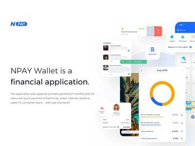 NPay Wallet Sketch Template wallet ui transfer transaction template payment money modern kit incentives finance clean bill bank app