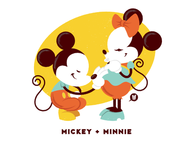 Mickey + Minnie (Maruyama Colorway)