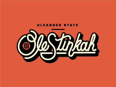 Oleander State Skunks Custom Type custom type typography collegiate skunk mascot college mascot illustration vector