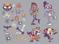 Monster Mash Halloween Elements