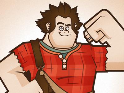 Wreck It Ralph (Final) illustration cartoon character design disney wreck it ralph 16bit