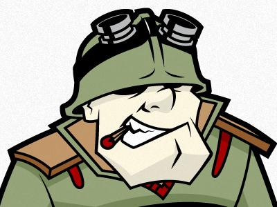 Sarge illustrator vector logo illustration character design sergeant match