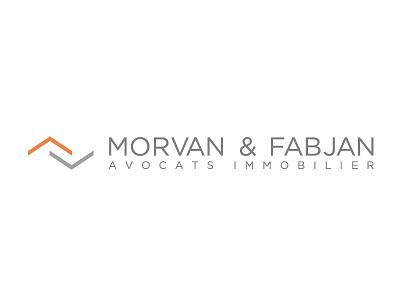 Logo MORVAN & FABJAN logo real estate lawyers orange grey