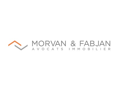 Logo MORVAN & FABJAN logo real estate lawyers orange grey