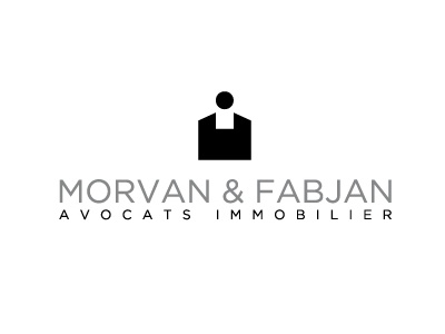 Logo MORVAN & FABJAN Variante 02 logo real estate lawyers black grey mf