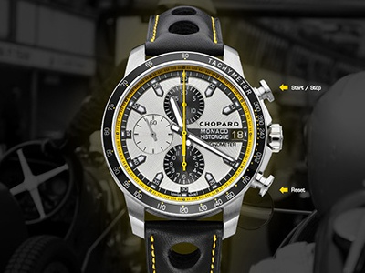 RealTime ScreenSaver Chopard chopard watch flash gpmh grand prix monaco historique