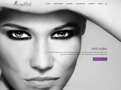 Ang'elle & lui Web design e-commerce shop soothes black and white beauty institut