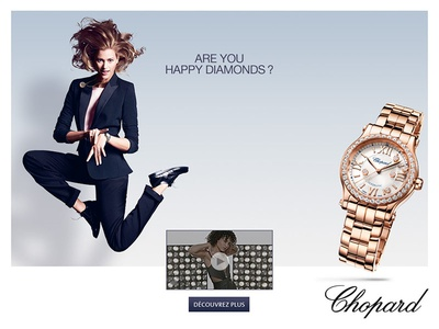 Chopard Happy Diamonds 2015 gif digital campaign banners happy diamonds chopard