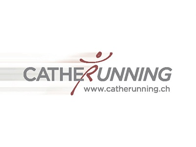 Logo & Corporate Identity Catherunning speed grey red man catherunning running logo
