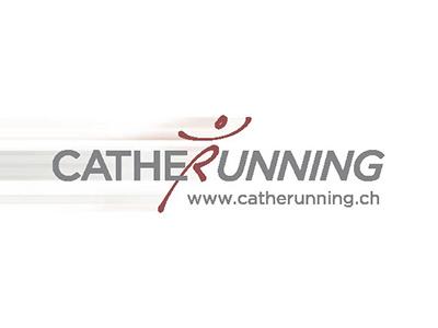 Logo & Corporate Identity Catherunning speed grey red man catherunning running logo