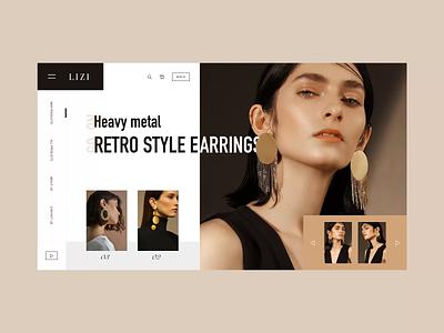 Web design-Earrings shop principle ui shop design web