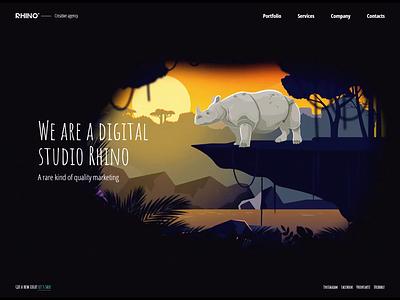 Agency site animation branding site design illustration
