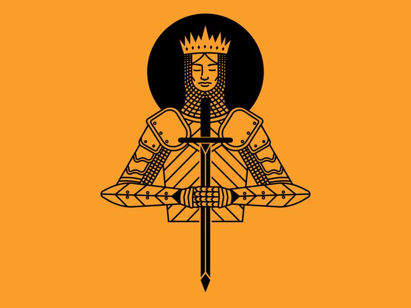 The Knight knight sword vector simple illustration