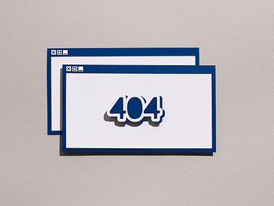 HiCactus 0010 404 error iconography icon window 404 page 404 paper collage paper art illustration design papercut paper craft illustation paper illustration cutout