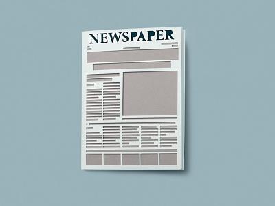 HiCactus NEWSPAPER paper cut collage paper illustration handcraft papercut paper art illustation cutout paper illustration design press newspaper illustration newspaper news