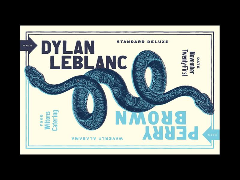DL standard deluxe fun as hell snakes handbill screenprint