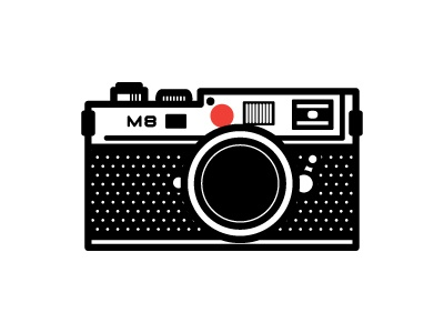 Leica leica m8 thick lines illustration photography camera