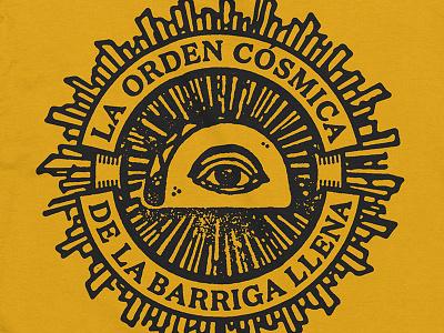 The Cosmic Order of the Full Belly tshirt merch festival tacos secret society