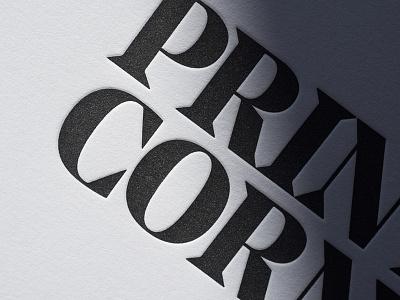 PC 2 detail real estate print letterpress identity devote color birmingham alabama