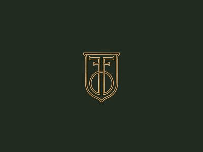 FF branding shield crest fashion identity logo southern