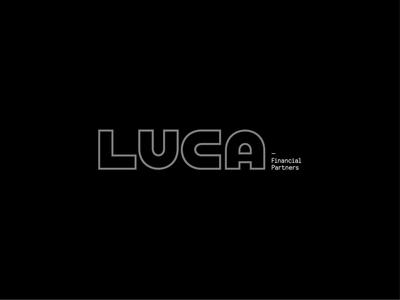 LUCA Scratch finance logotype identity typography lettering