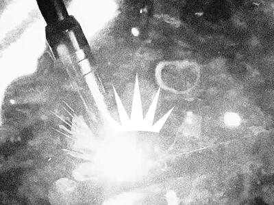 Jones Valley Fabrication sparks crown industrial logo mark symbol fabrication alabama industrial