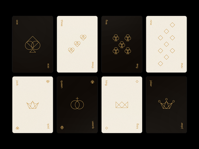 Playing Cards graphic geometic craft minimal chance gambling vegas blackjack poker casino deck playing cards illustration design type