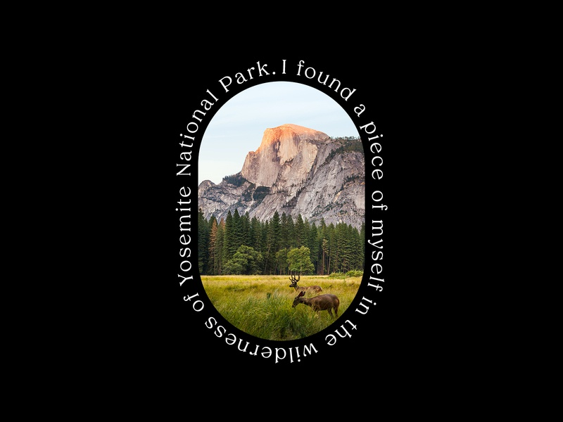 Head In The Clouds - Yosemite travel creative typography design type