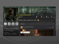 Playstation User Profile Re-design
