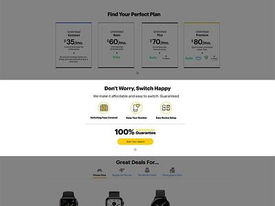 Switch to Sprint design website ux ui