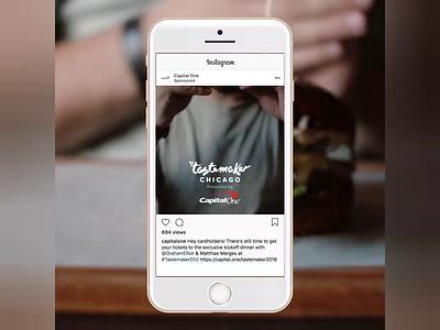 Tastemaker Chicago Food Festival marketing advertising art direction dining food and drink food social media video editing video animation