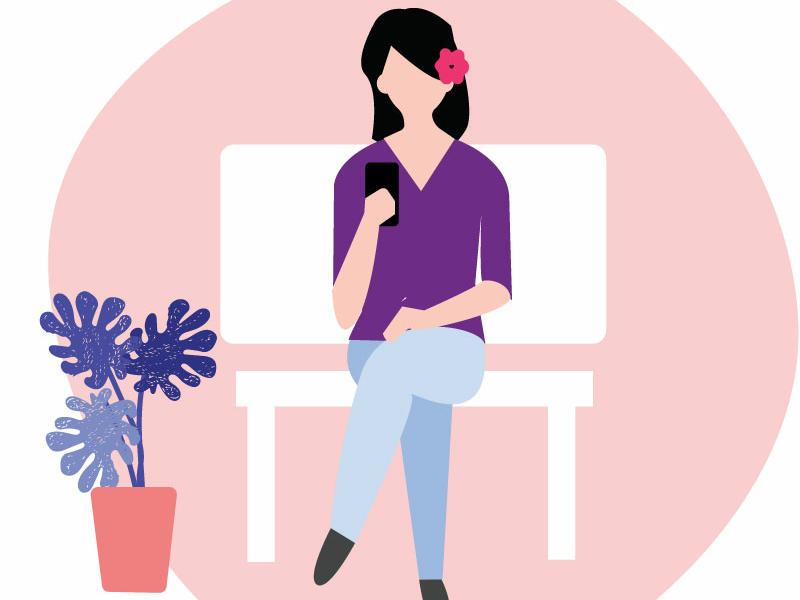 Waiting illustration design vector