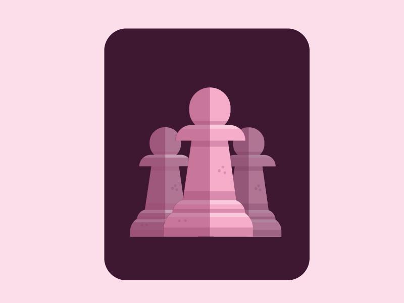 Chess_asset (Pawn) flat vector illustration design
