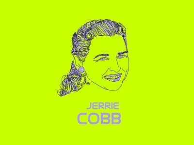 "Jerrie Cobb | Series "" The Forgotten Ones "" colorcontrast colorscheme adobe draw feminism illustrator draw apple pencil ipad pro woman portrait portrait illustration"