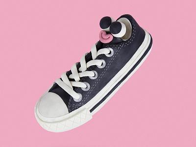 CONVERSE ALL STAR CHUCK TAYLOR sculpting modelling taylor chuck allstar converse sneakers shoes clay plasticine